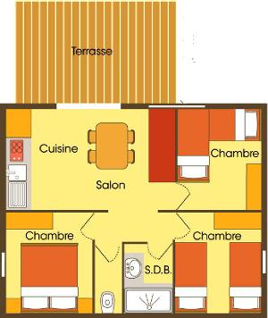 Plan du chalet Séjour Grand Confort