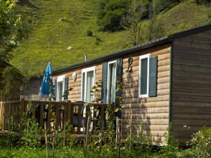 mobilhome en bois 6 personnes camping barèges