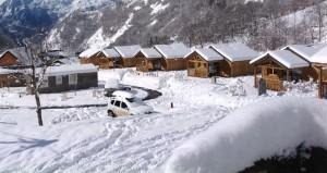 Photo du camping sous la neige