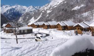 Camping chalet barèges la mongie sous la neige